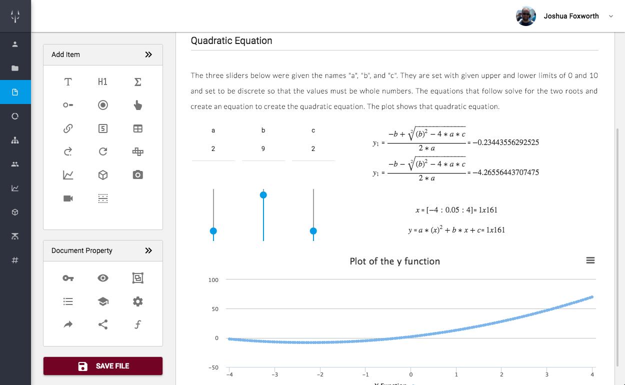 Equation Update Demo